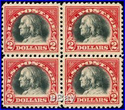 Momen US Stamps #547 Block of 4 Mint OG NH VF