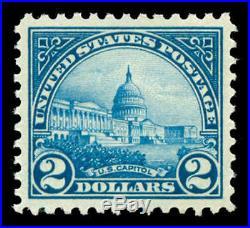 Momen US Stamps #572 Mint OG NH PSE Graded XF-SUP 95
