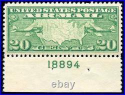 Momen US Stamps #C9 Mint OG NH PSE Graded XF-SUP 95