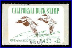 Momen US Stamps CA-2 California State Duck Mint OG NH VF