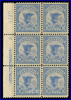Momen US Stamps #F1 Mint OG Plate Block of 6