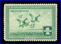 Momen US Stamps #RW4 Duck Mint OG NH XF