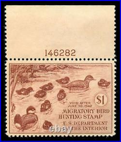 Momen US Stamps #RW8 Mint OG NH XF