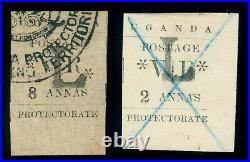 Momen Uganda Sg #71,74 1896 Used Lot #60005