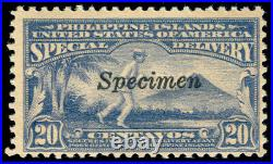 Momen Us Philippines Stamps #e5sr 1919 Mint Og H Specimen