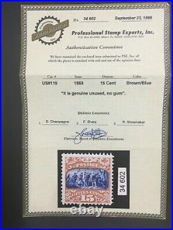 Momen Us Stamps #119 Unused Pf Cert Lot #71286
