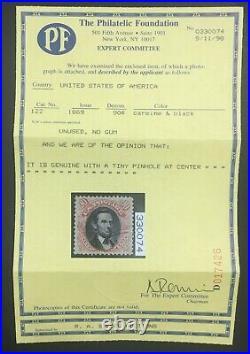 Momen Us Stamps #122 Unused Xf App. Pf Cert Lot #71180