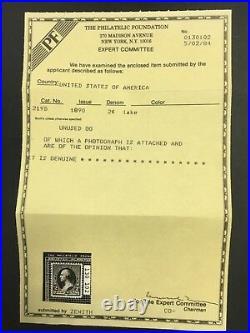 Momen Us Stamps #219d Mint Og Nh Pf Certificate