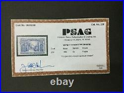 Momen Us Stamps #235 Mint Og Nh Vf/xf Jumbo Psag Cert