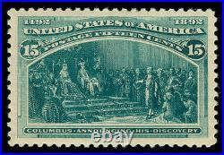 Momen Us Stamps #238 Mint Og Lh Pf Cert Superb Jumbo