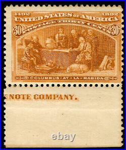 Momen Us Stamps #239 Mint Og Nh Imprint Margin