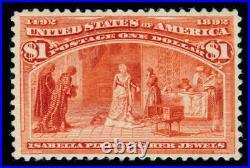 Momen Us Stamps #241 Mint Og Nh Vf Aps Cert