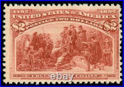 Momen Us Stamps #242 Mint Og H Lot #70298
