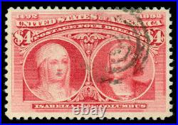 Momen Us Stamps #244 Used Vf Lot #70658