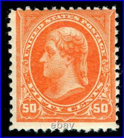 Momen Us Stamps #260 Mint Og Nh Deep Orange