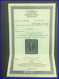 Momen Us Stamps #276a Mint Og H Vf+ Weiss Cert Lot #71325