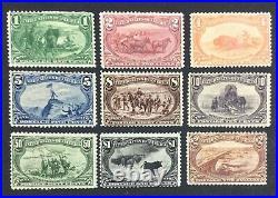 Momen Us Stamps #285-293 Complete Set Trans-miss Mint Og H Lot #72436