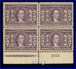 Momen Us Stamps #325 Plate Block Mint Og Nh Fresh Lot #70002