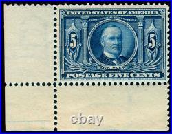 Momen Us Stamps #326 Corner Margin Single Mint Og Nh Vf