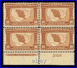 Momen Us Stamps #327 Plate Block Mint Og Nh Fresh Lot #70017