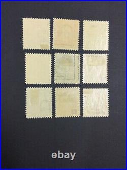 Momen Us Stamps #374-382 Complete Set Mint Og H Lot #72731