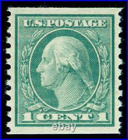 Momen Us Stamps #452 Coil Mint Og Nh Pse Graded Cert Xf-sup 95