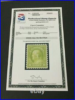 Momen Us Stamps #470 Mint Og Vlh Pse Cert Graded Gem-100