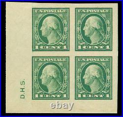 Momen Us Stamps #481 Corner Block Mint Og Nh Superb