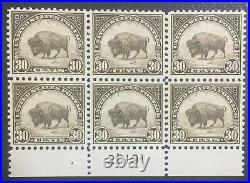 Momen Us Stamps #569 Plate Block Of 6 Mint Og Nh Vf+ Lot #71624