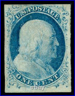 Momen Us Stamps #9 Mint Og Lh Imperf