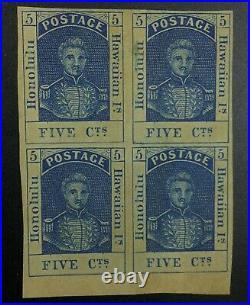 Momen Us Stamps Hawaii #10 Block Mint Og 2h/2nh(bottom 2) Lot #72447