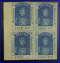 Momen Us Stamps Hawaii #10 Block Mint Og H Lot #72448