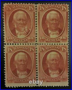 Momen Us Stamps Hawaii #34 Block Unused Lot #72449