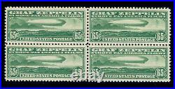 Momen Us Stamps #c13 Graf Zeppelin Block Mint Og Nh Vf