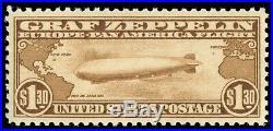 Momen Us Stamps #c14 Graf Zeppelin Mint Og Nh Pse Graded Cert Sup-98