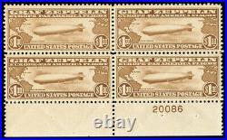 Momen Us Stamps #c14 Mint Og Nh Plate Block Of 4 Xf