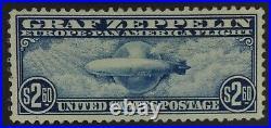 Momen Us Stamps #c15 Graf Zeppelin Mint Og H Lot #72374