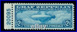 Momen Us Stamps #c15 Zeppelin Mint Og Nh Pse Graded Cert Vf-80