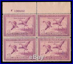 Momen Us Stamps #rw5 Mint Og Nh Plate Block Of 4 Vf